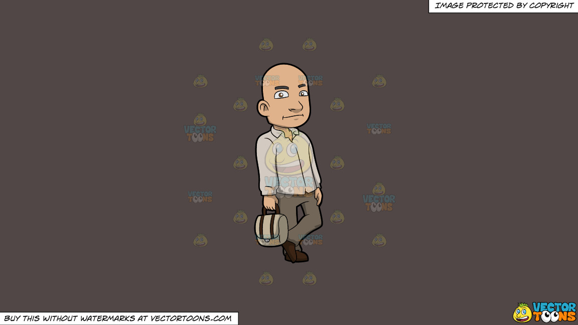 A Bald Man With A Bag On A Solid Quartz 504746 Background thumbnail