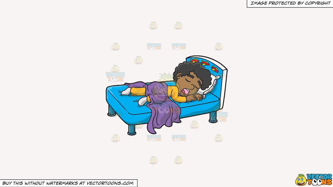 A Black Boy Sleeping With His Saliva Flowing Down On A Solid White Smoke F7f4f3 Background thumbnail