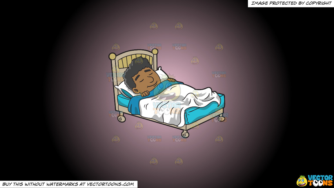 A Black Man Having A Good Dream On A Pink And Black Gradient Background thumbnail