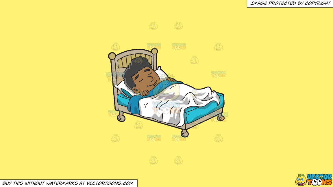 A Black Man Having A Good Dream On A Solid Sunny Yellow Fff275 Background thumbnail