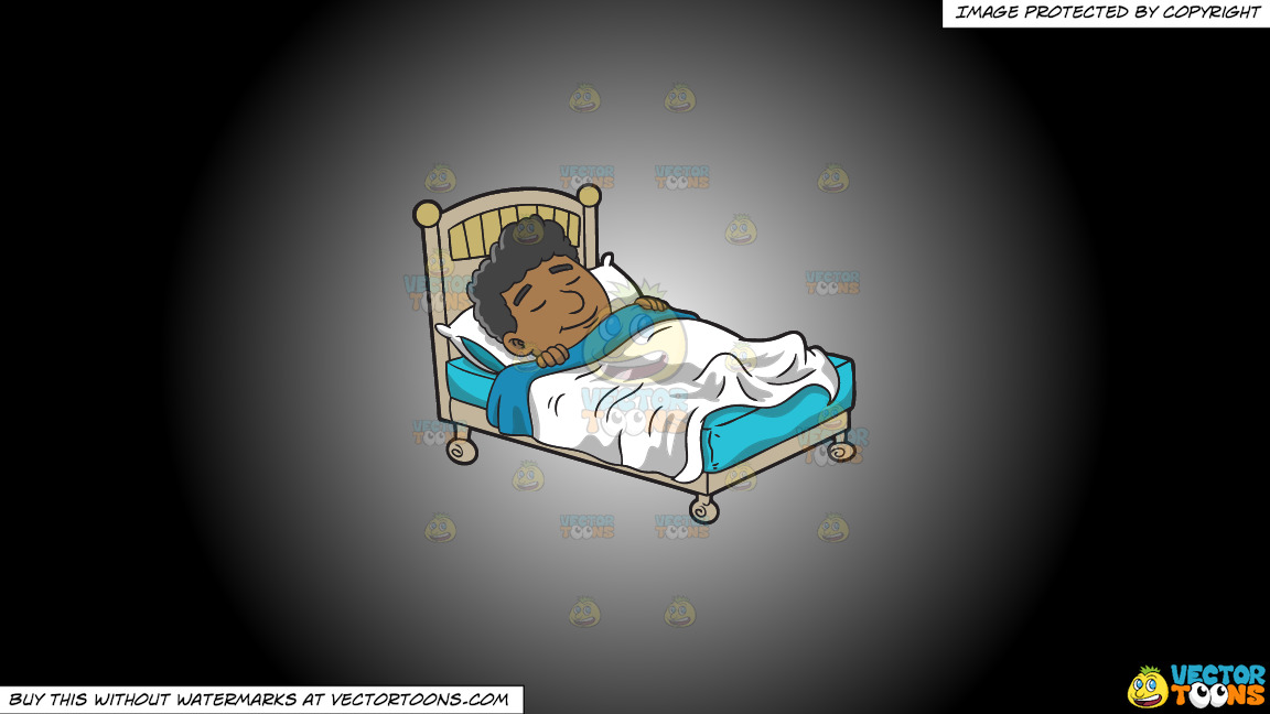 A Black Man Having A Good Dream On A White And Black Gradient Background thumbnail