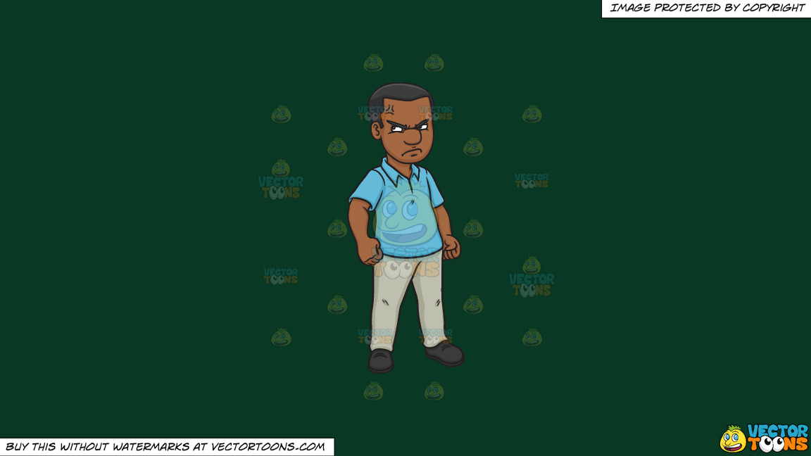 A Black Man Looking Furious And Annoyed On A Solid Dark Green 093824 Background thumbnail