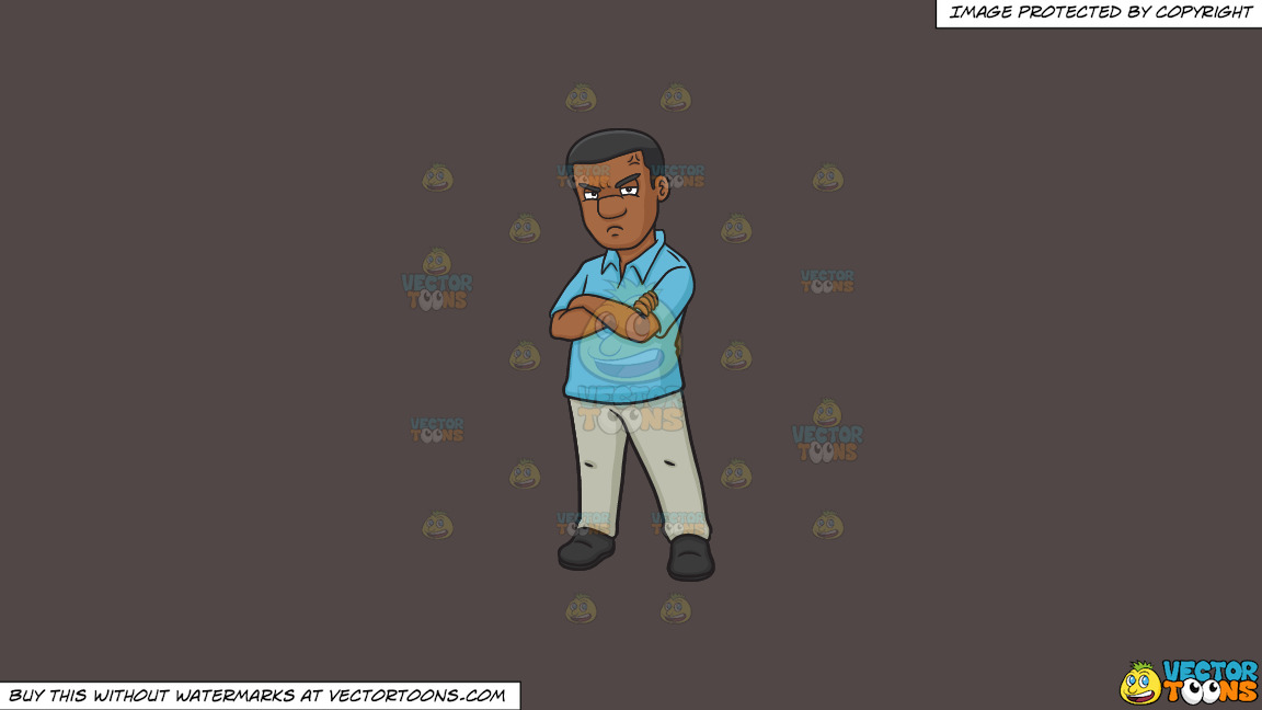 A Black Man Looking So Annoyed On A Solid Quartz 504746 Background thumbnail
