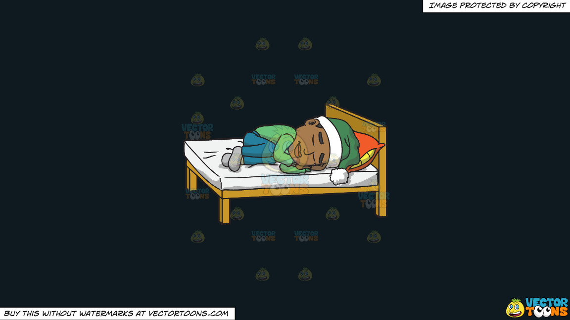 A Black Man Sleeping With A Hat On On A Solid Off Black 0f1a20 Background thumbnail
