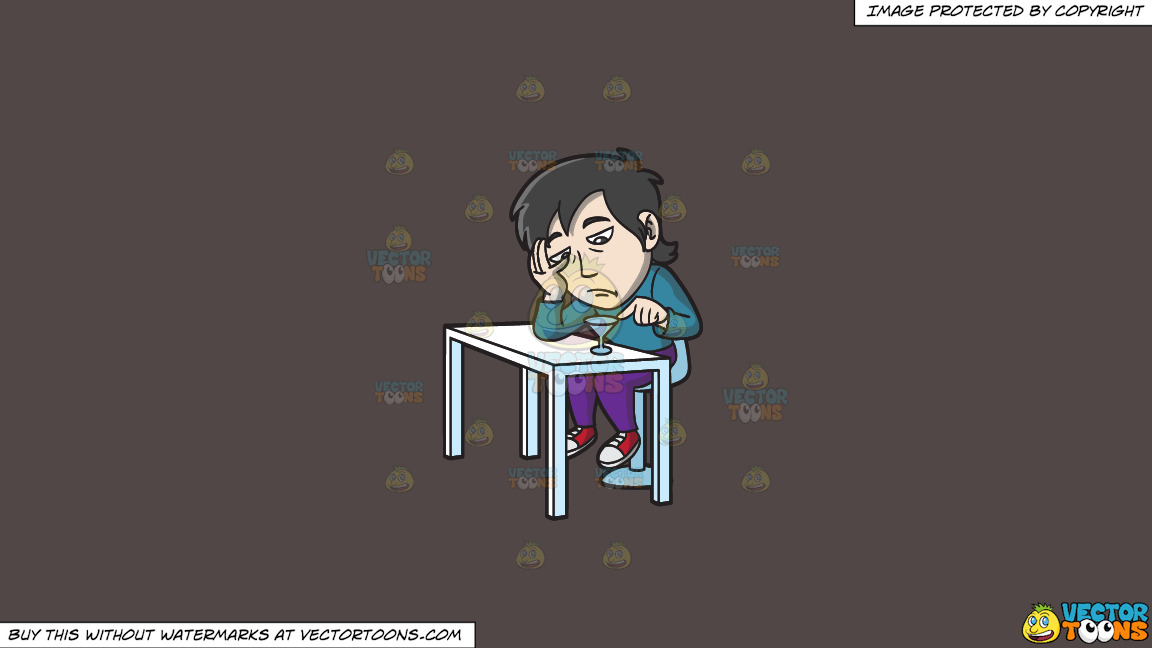 A Bored Asian Guy In A Bar On A Solid Quartz 504746 Background thumbnail