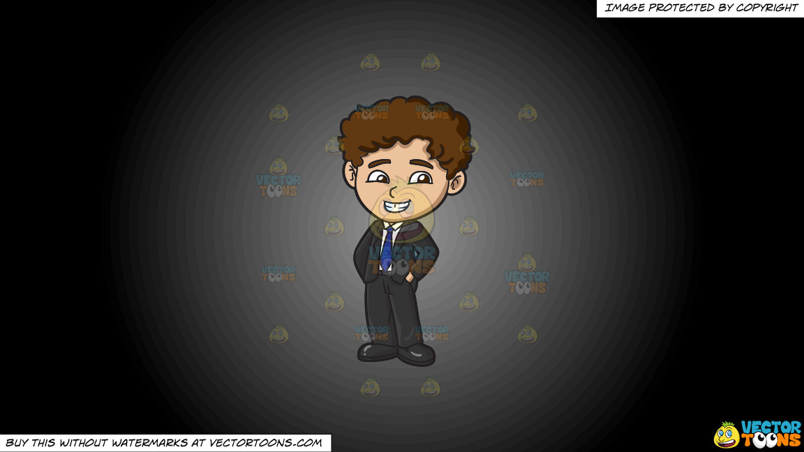 A Boy Attending A Formal Party On A Grey And Black Gradient Background thumbnail
