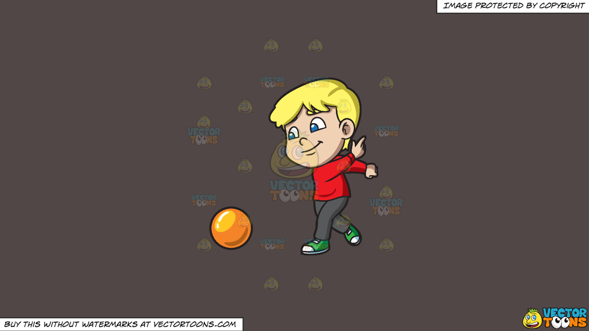 A Boy Enjoying The Game Of Bowling On A Solid Quartz 504746 Background thumbnail
