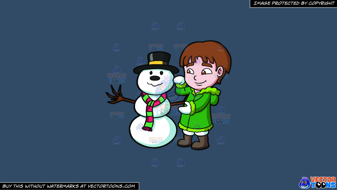 A Boy Fixing A Snowman On A Solid Metal Grey 465362 Background thumbnail
