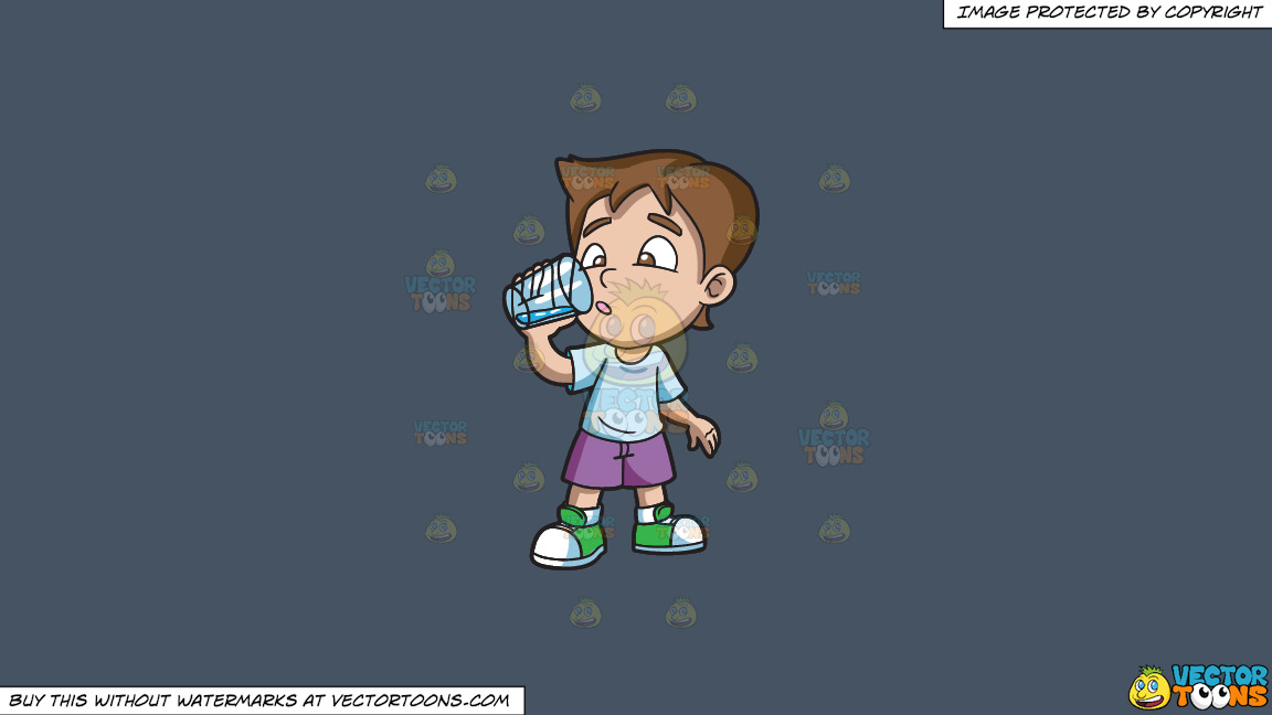 A Boy Looking Curious At The Water That He Is Drinking On A Solid Metal Grey 465362 Background thumbnail