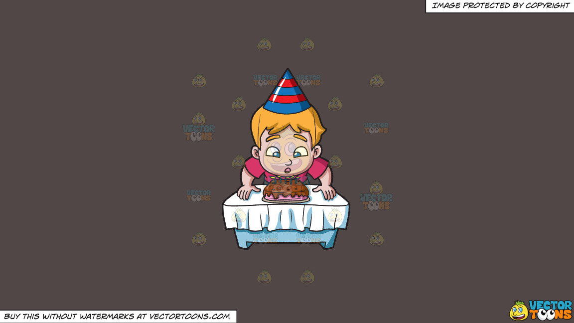 A Boy Makes A Wish Before Blowing His Cake On A Solid Quartz 504746 Background thumbnail