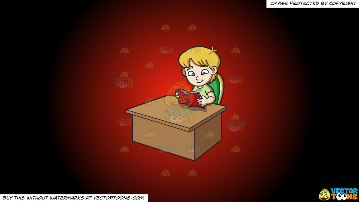 A Boy Reading A Book On A Red And Black Gradient Background thumbnail