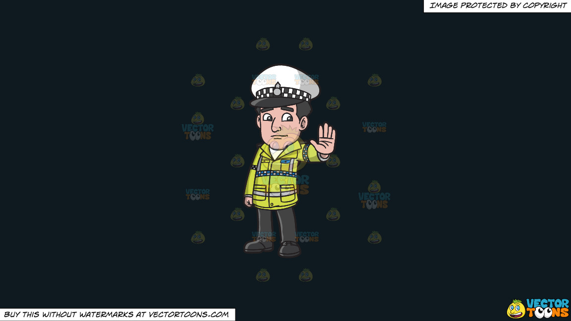 A British Traffic Police Officer On A Solid Off Black 0f1a20 Background thumbnail