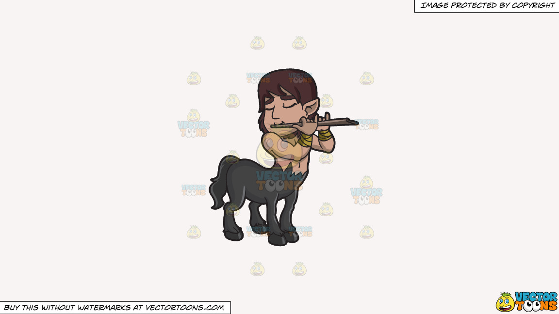 A Centaur Playing The Flute On A Solid White Smoke F7f4f3 Background thumbnail
