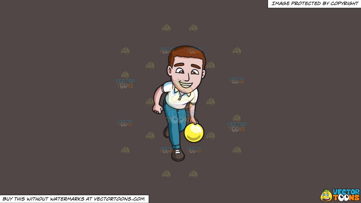 A Charming Man Enjoying A Game Of Bowling On A Solid Quartz 504746 Background thumbnail