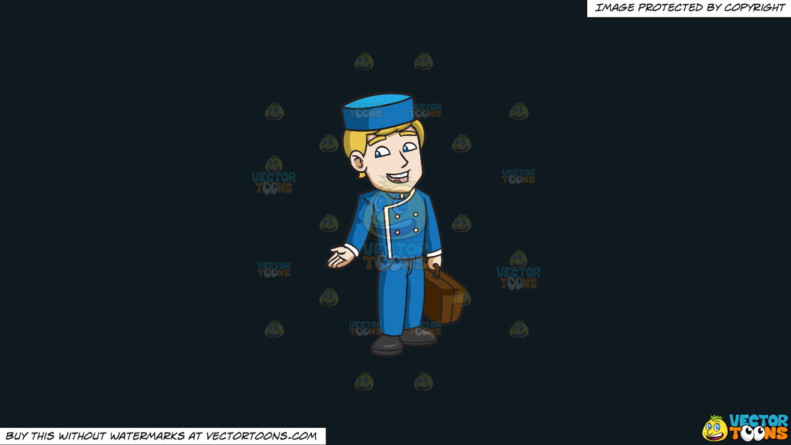 A Chatty Bellhop On A Solid Off Black 0f1a20 Background thumbnail