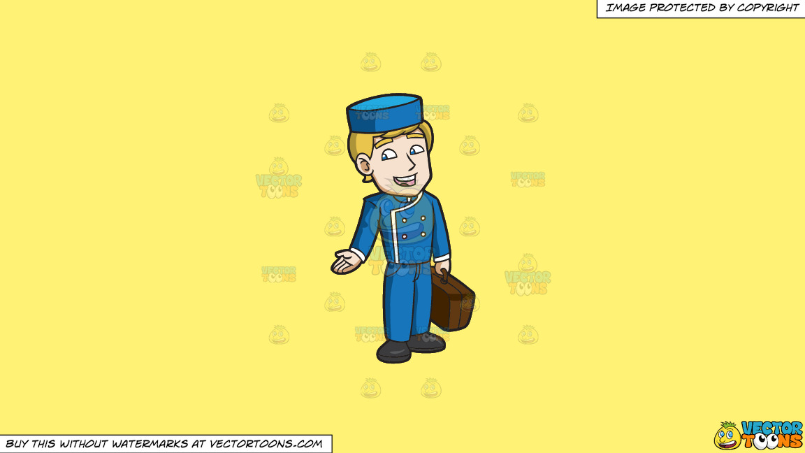 A Chatty Bellhop On A Solid Sunny Yellow Fff275 Background thumbnail