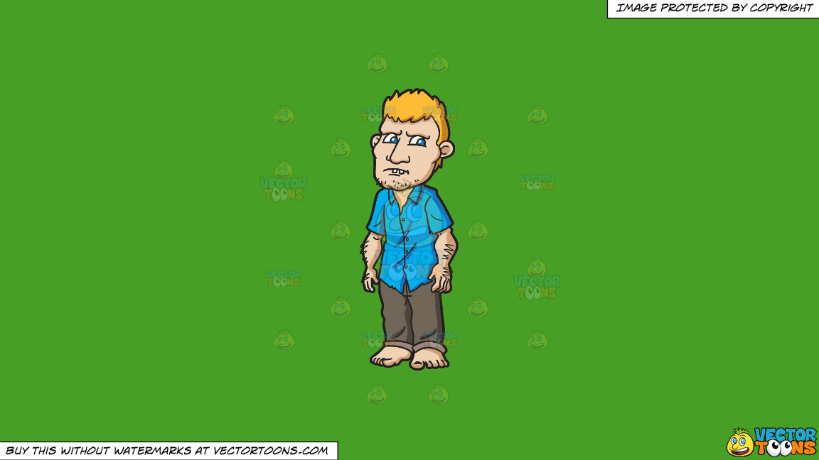A Clueless Yokel On A Solid Kelly Green 47a025 Background thumbnail