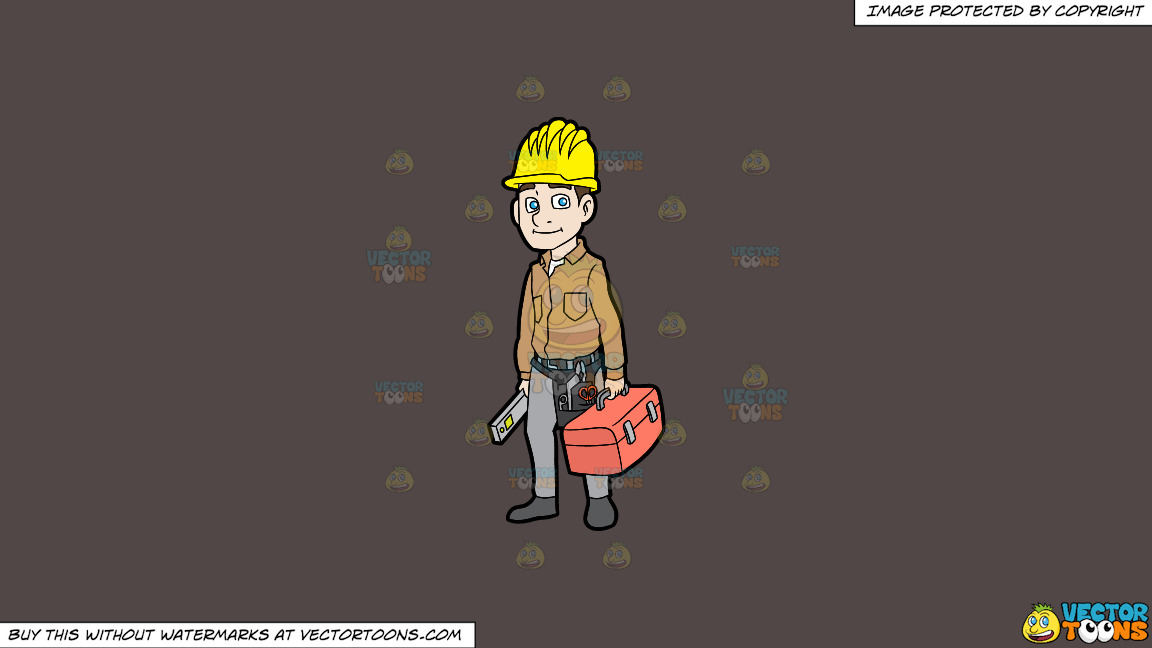 A Construction Worker On His Way To Work On A Solid Quartz 504746 Background thumbnail