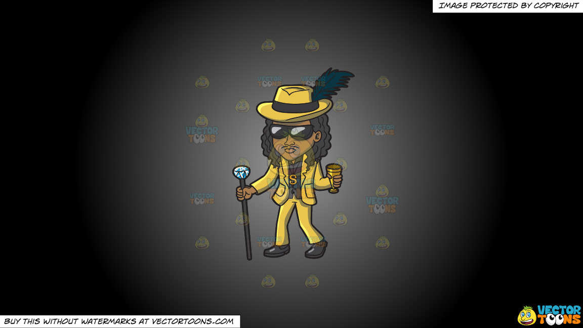 A Cool Pimp On A Grey And Black Gradient Background thumbnail