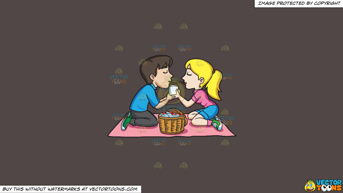 A Couple Enjoying A Picnic Date On A Solid Quartz 504746 Background thumbnail