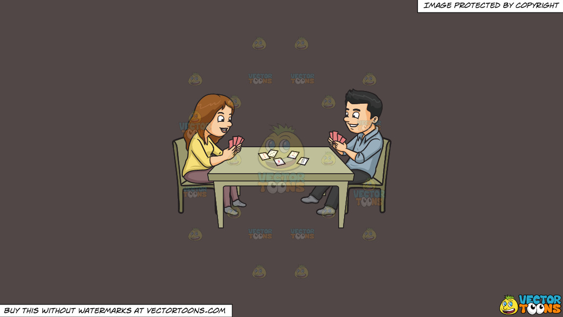 A Couple Playing Poker On A Solid Quartz 504746 Background thumbnail