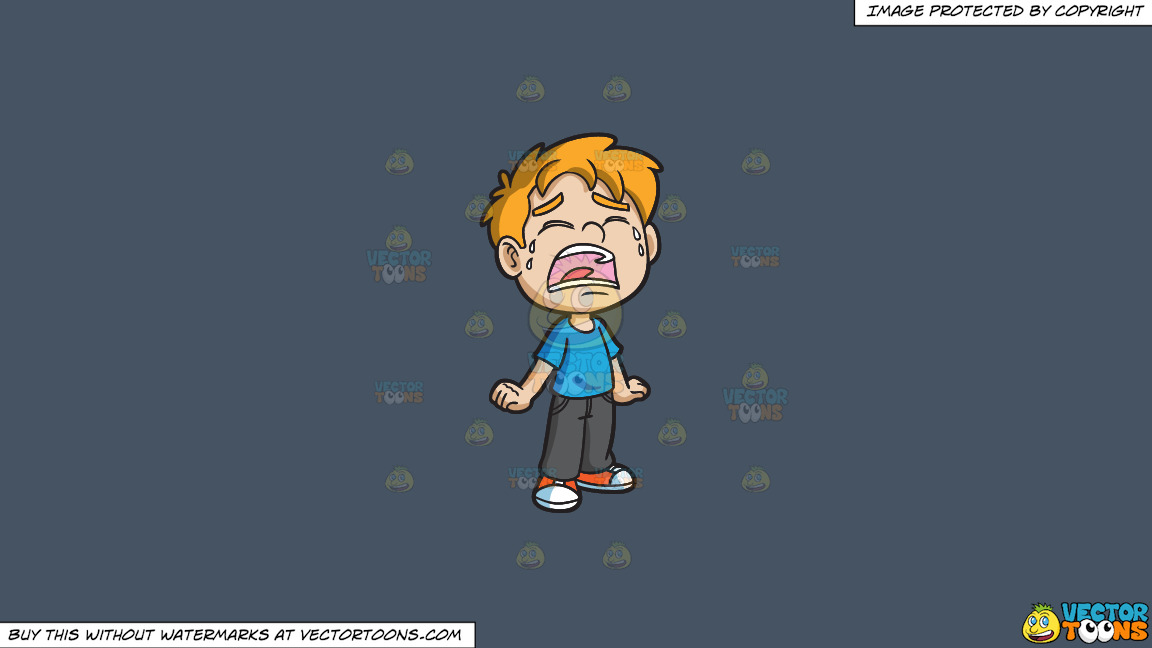 A Crying Little Boy On A Solid Metal Grey 465362 Background thumbnail