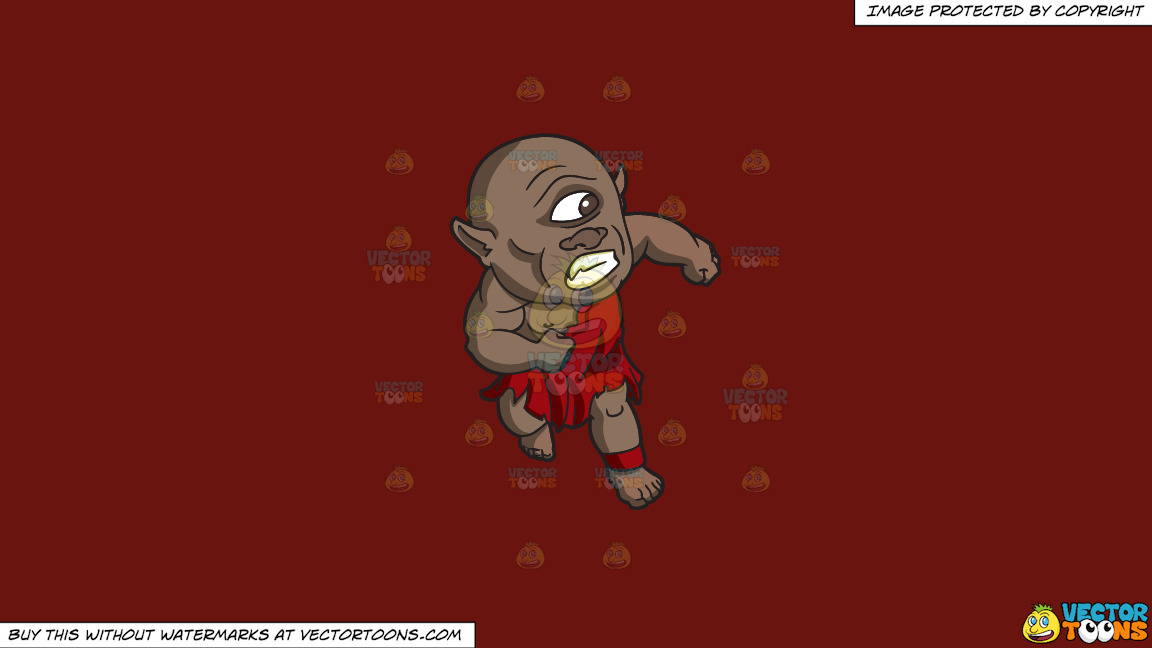 A Cyclops Running Away From Something On A Solid Maroon 69140e Background thumbnail
