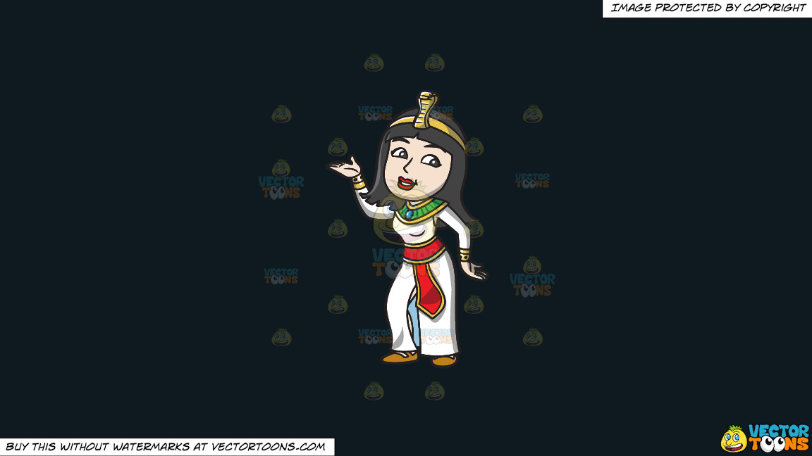 A Dancing Egyptian Princess On A Solid Off Black 0f1a20 Background thumbnail