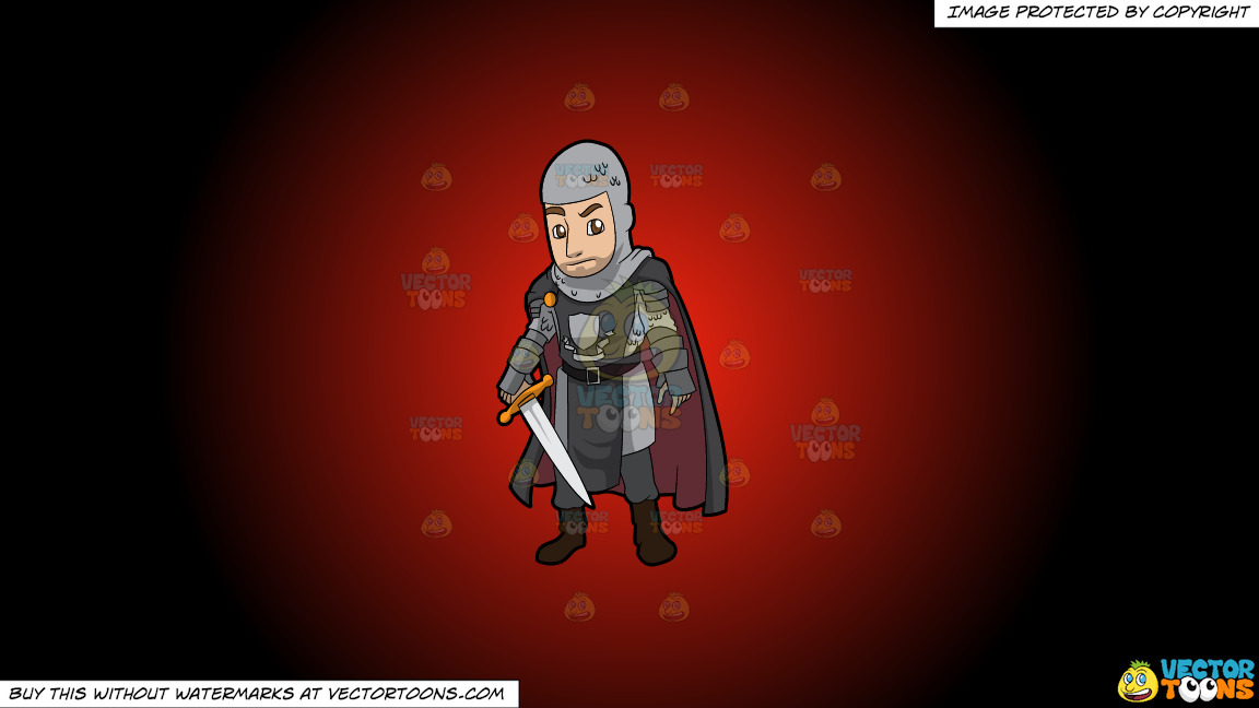 A Dashing Knight On A Red And Black Gradient Background thumbnail