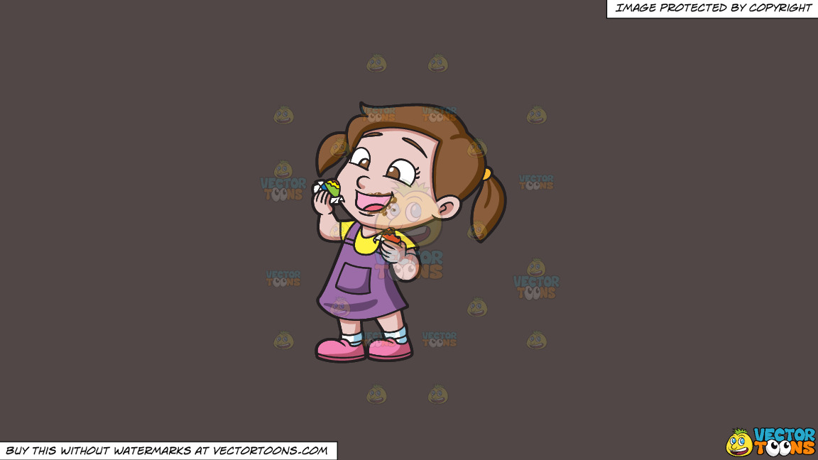 A Delighted Girl Munching Chocolates On A Solid Quartz 504746 Background thumbnail