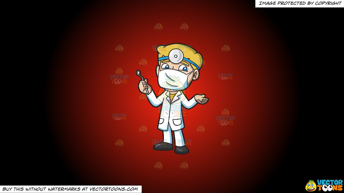 A Dentist Ready For His Next Procedure On A Red And Black Gradient Background thumbnail