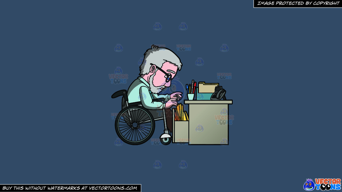 A Disabled Male Office Worker Looking For A File On A Solid Metal Grey 465362 Background thumbnail