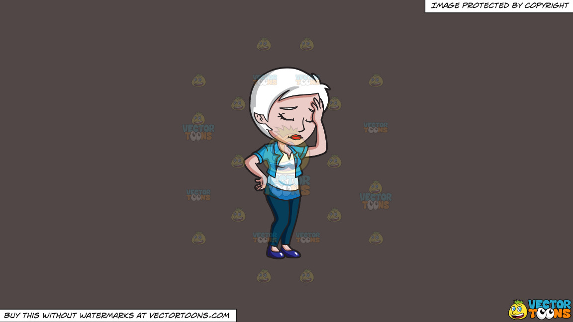 A Disappointed Woman Slapping Her Forehead On A Solid Quartz 504746 Background thumbnail