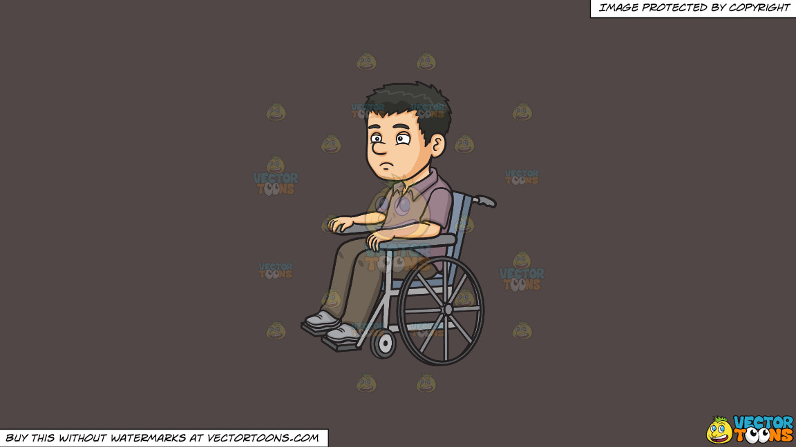 A Disoriented Man In A Wheelchair On A Solid Quartz 504746 Background thumbnail