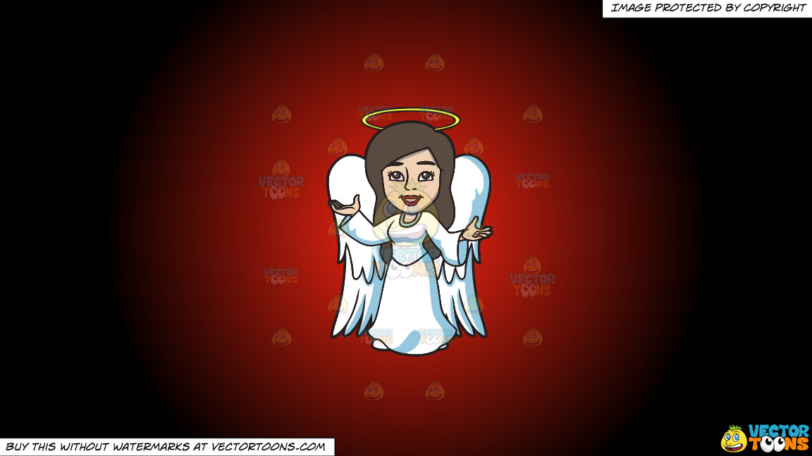 A Divine Angel On A Red And Black Gradient Background thumbnail