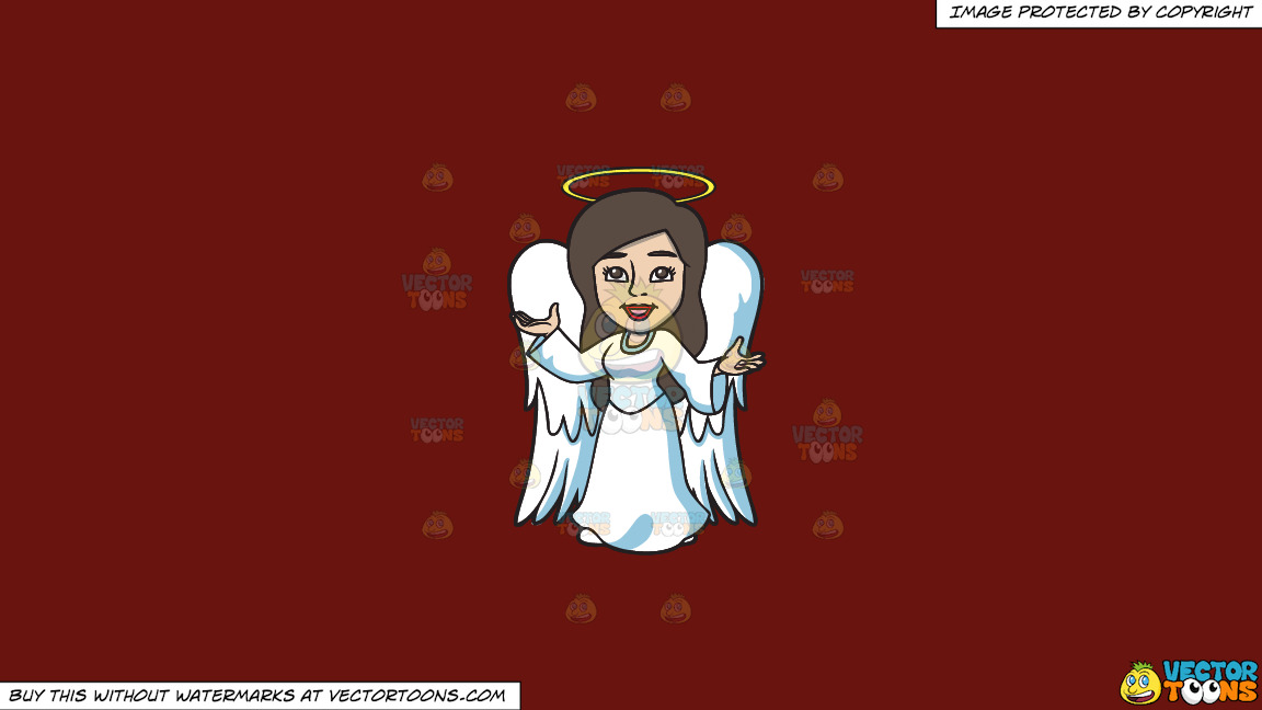 A Divine Angel On A Solid Maroon 69140e Background thumbnail