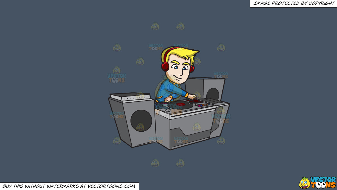 A Dj Creating A Super Mix Music On A Solid Metal Grey 465362 Background thumbnail