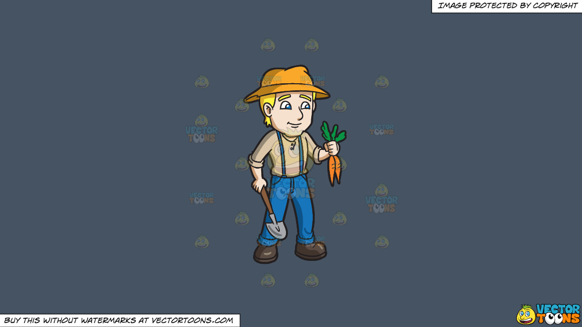 A Farmer Harvesting Carrots On A Solid Metal Grey 465362 Background thumbnail