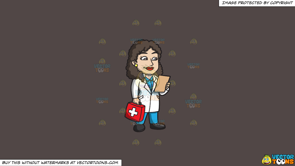 A Female Doctor Carrying A First Aid Kit On A Solid Quartz 504746 Background thumbnail