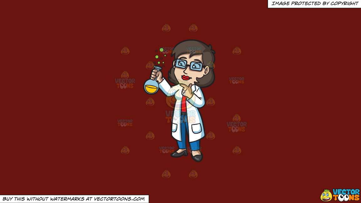 A Female Scientist On A Solid Maroon 69140e Background thumbnail