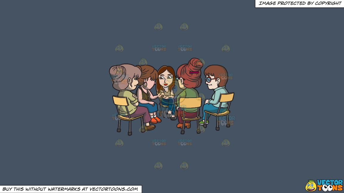 A Female Support Group Session On A Solid Metal Grey 465362 Background thumbnail