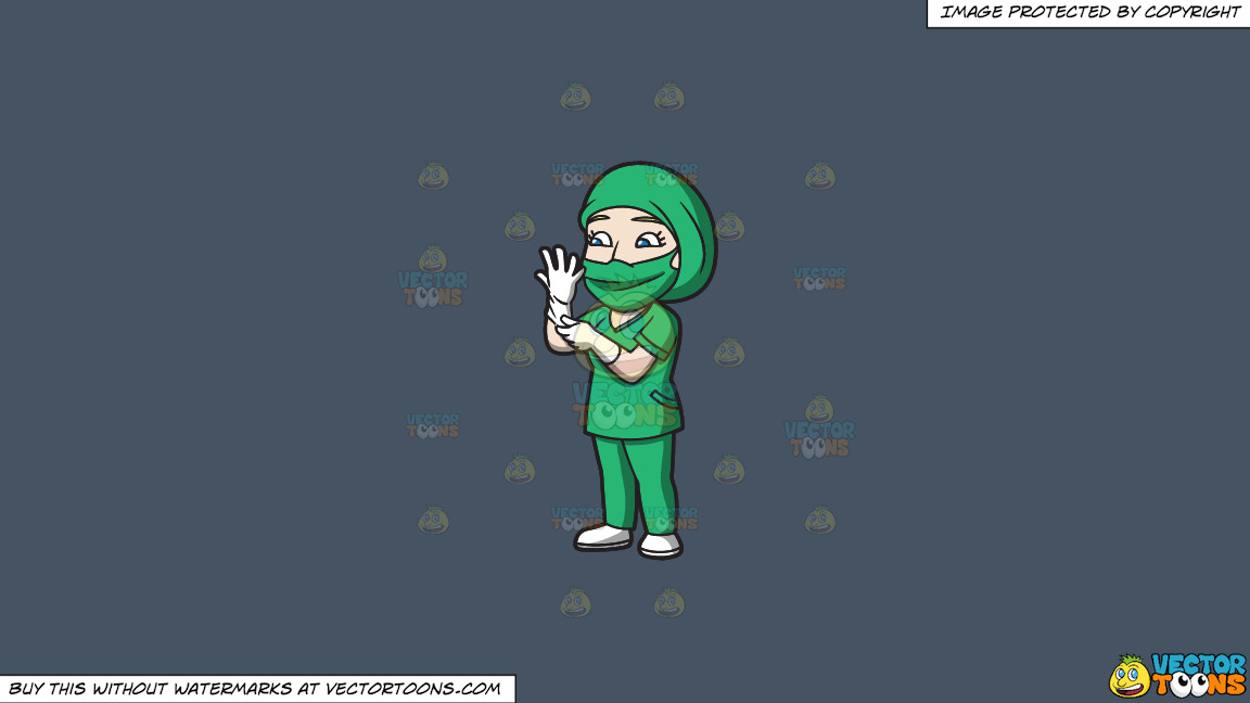 A Female Surgeon Getting Ready For An Operation On A Solid Metal Grey 465362 Background thumbnail