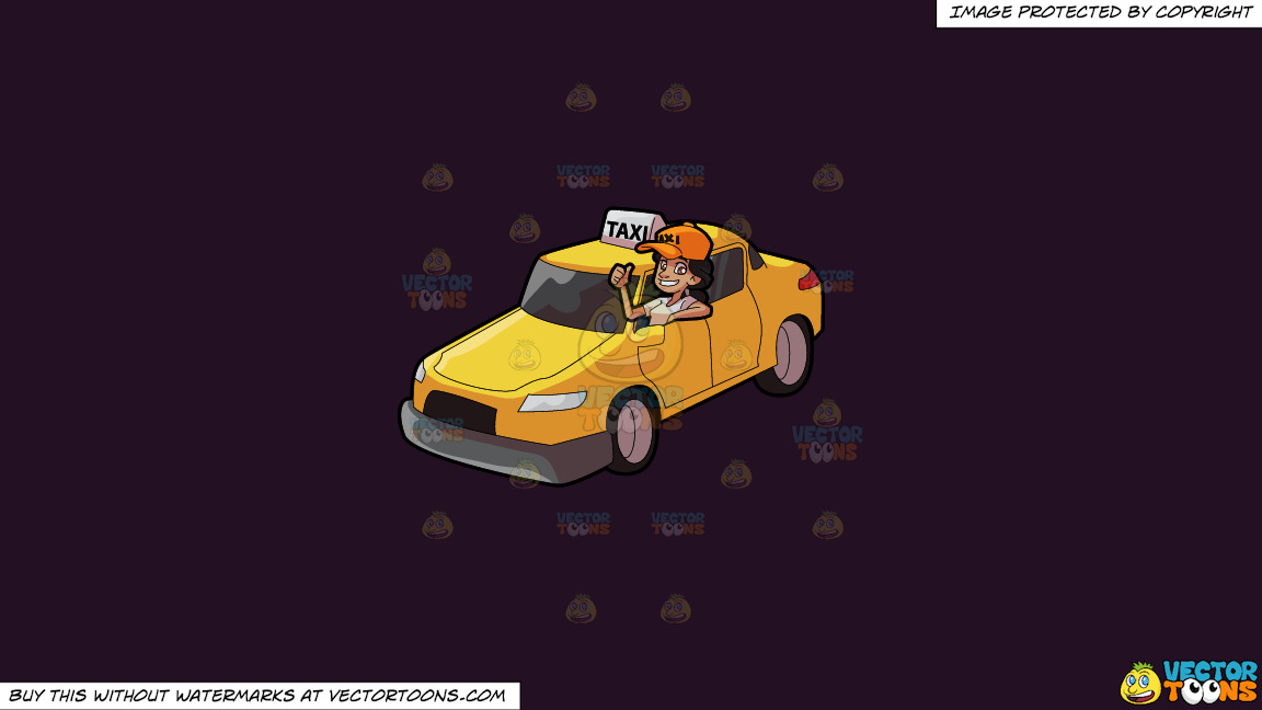 A Female Taxi Driver Gesturing An Approval Sign On A Solid Purple Rasin 241023 Background thumbnail