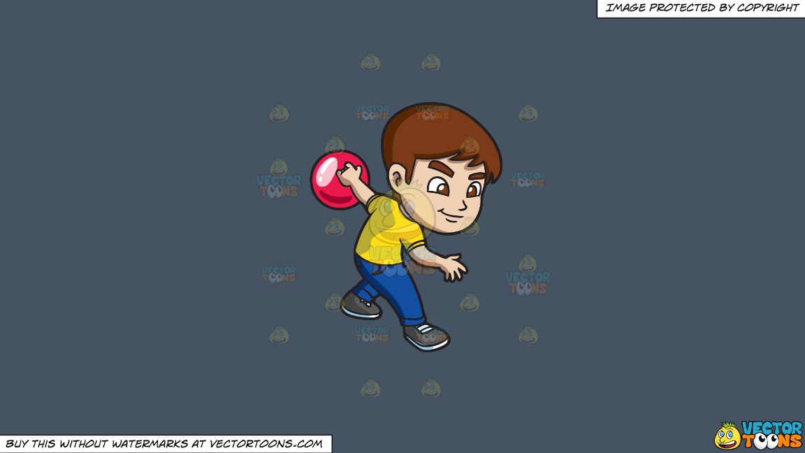A Focused Boy Enjoying The Game Of Bowling On A Solid Metal Grey 465362 Background thumbnail