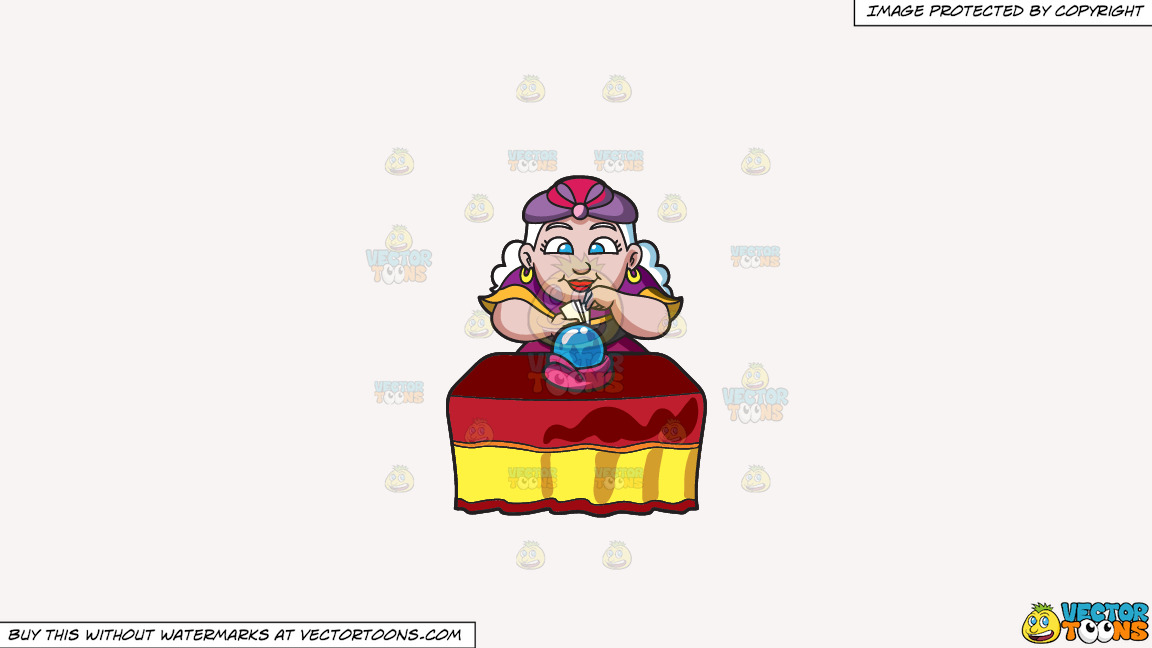 A Fortune Teller Reading Tarot Cards And The Orb On A Solid White Smoke F7f4f3 Background thumbnail