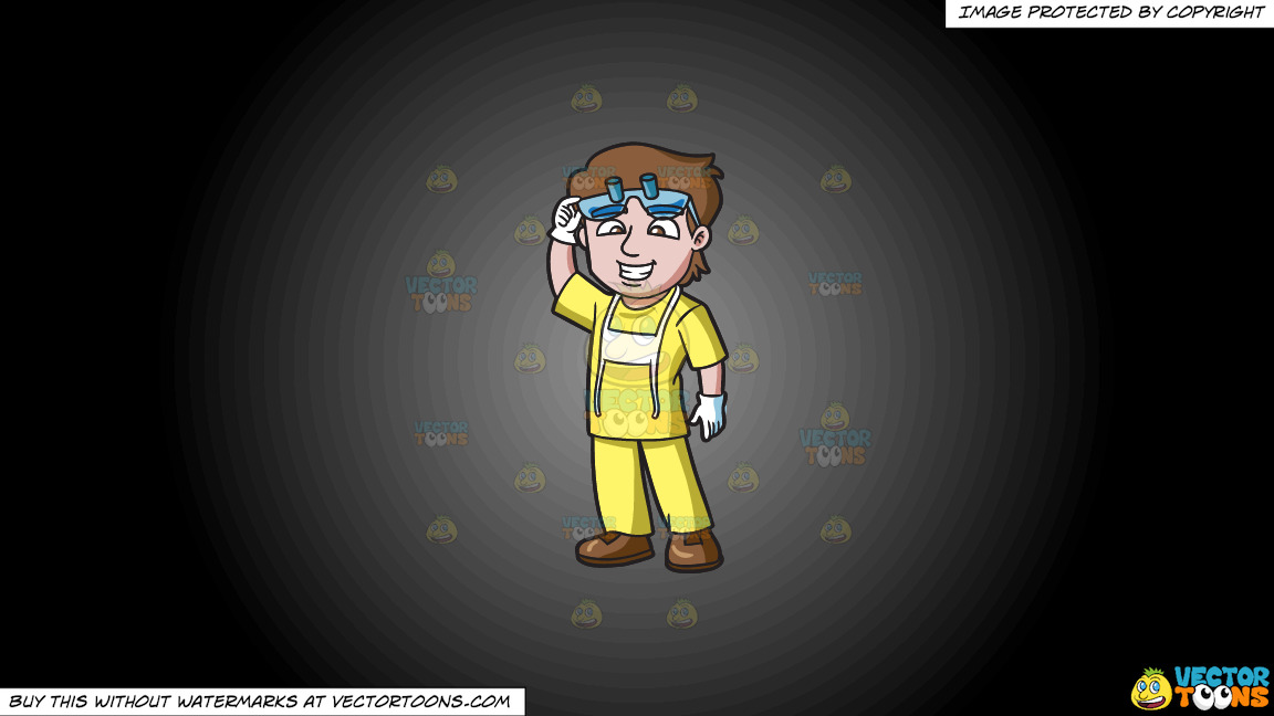 A Friendly Dental Hygienist On A Grey And Black Gradient Background thumbnail