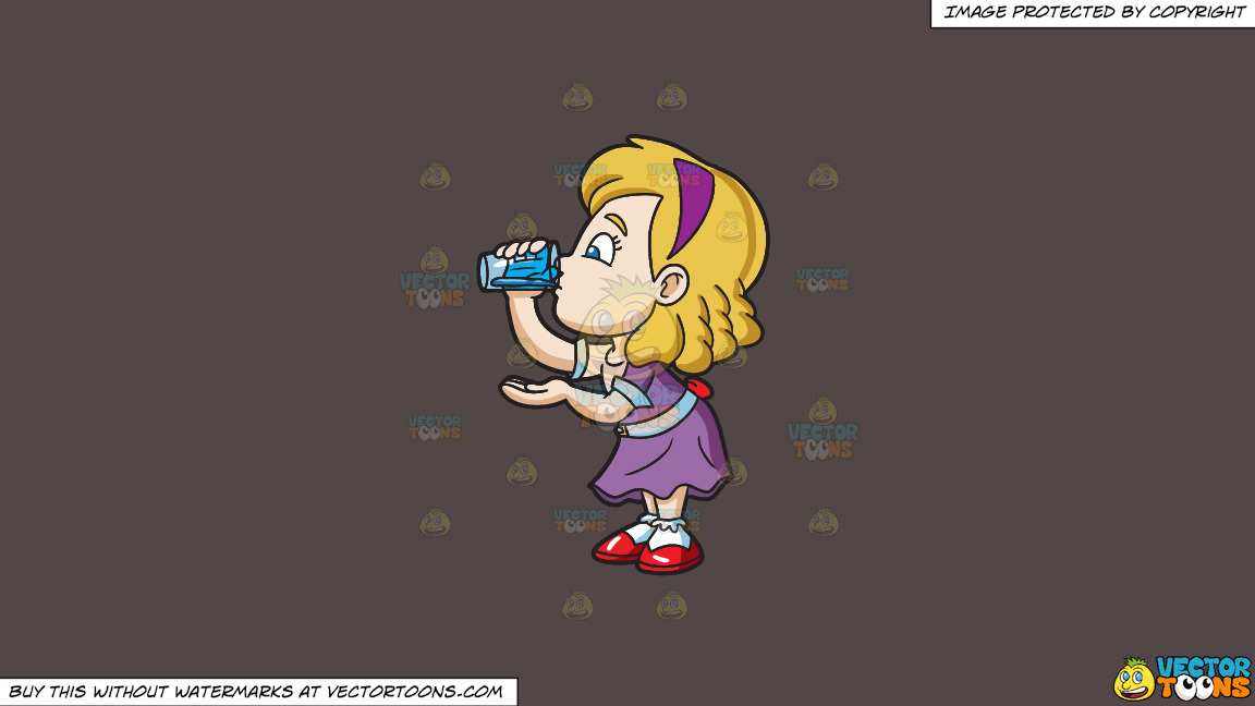 A Girl Carefully Drinks A Glass Of Water On A Solid Quartz 504746 Background thumbnail