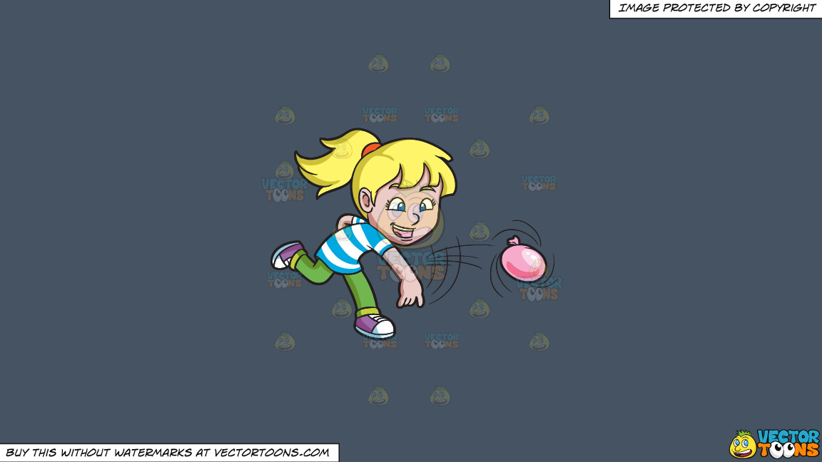 A Girl Having Fun With Water Balloons On A Solid Metal Grey 465362 Background thumbnail