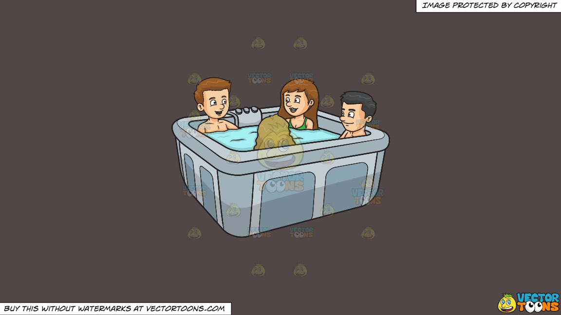 A Group Of Friends In A Hot Tub On A Solid Quartz 504746 Background thumbnail