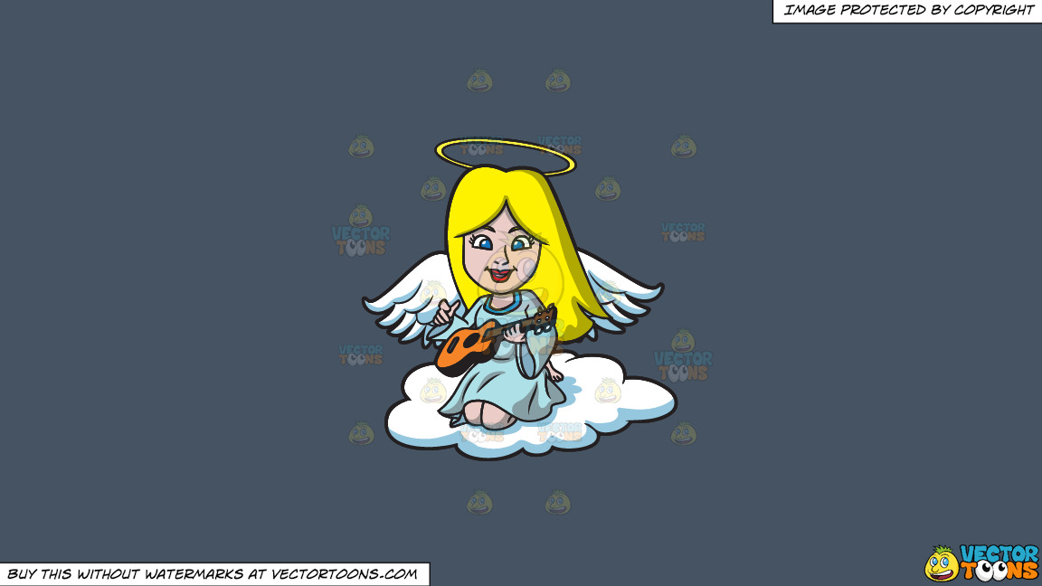 A Guitar Playing Angel On A Solid Metal Grey 465362 Background thumbnail
